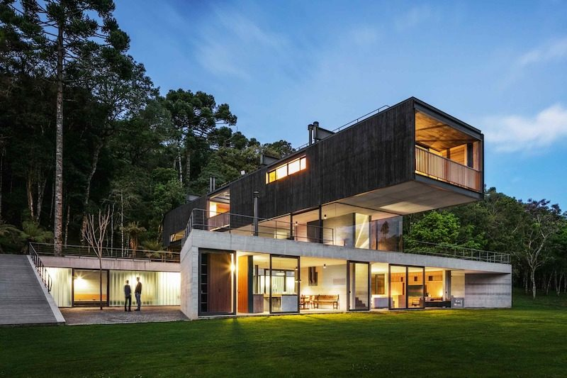 A House In A Glade Mixes Concrete And Metal To Make The Most Of The Site