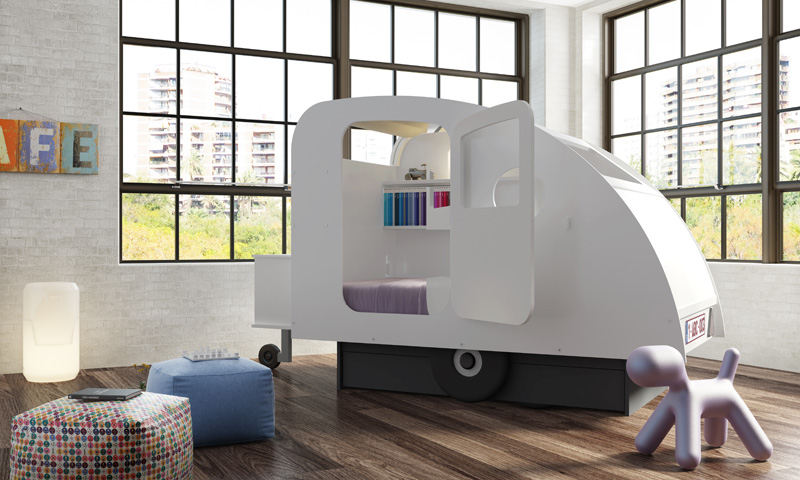 The Caravan bed is infused with a sense of adventure that inspires kids to explore the world around them