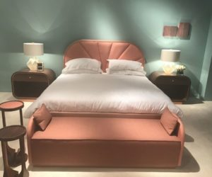 bedroom bench designs and the decors that revolve around them 13199 | modern pink bedroom with a small bench on the foot 300x250