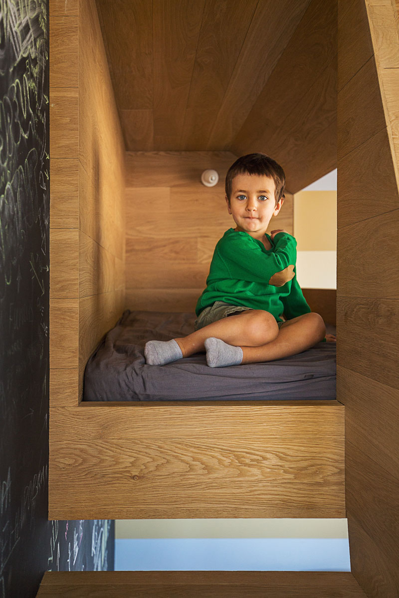 The space inside can be a fun playground or can potentially serve as an extra sleeping area