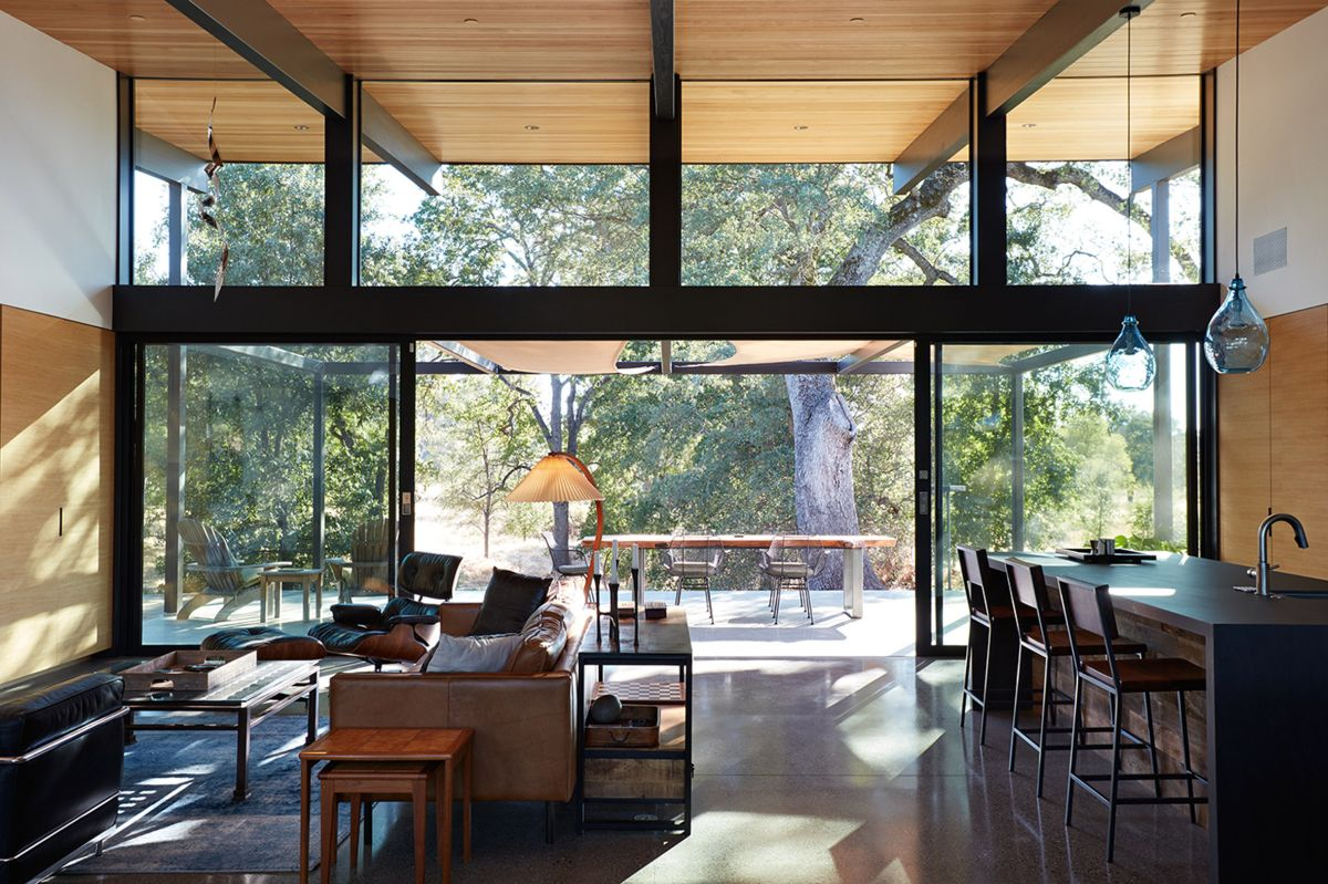 Located In Orangevale, In Northern California, The Residence Was Built As A  Replacement For A Ranch Damaged Beyond Repair.