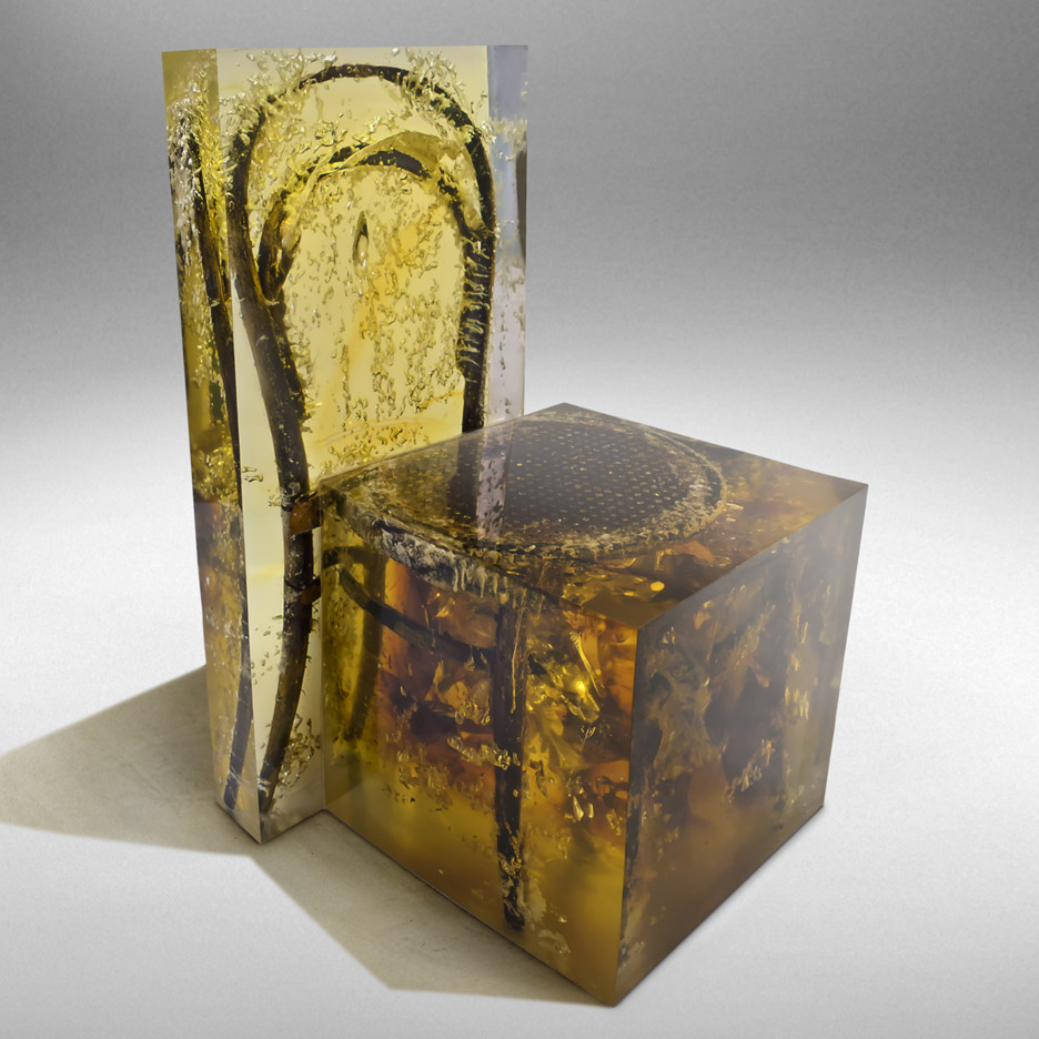 Resin Furniture Forever Encapsulates Beauty In