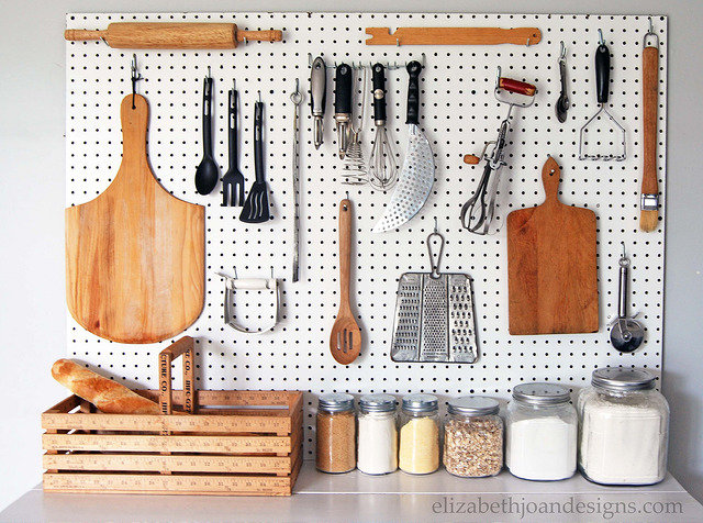pegboard ideas kitchen hanging storage diys you can craft right now 14530