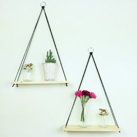Amazing Make These Easy Hanging Rope Accent Shelves