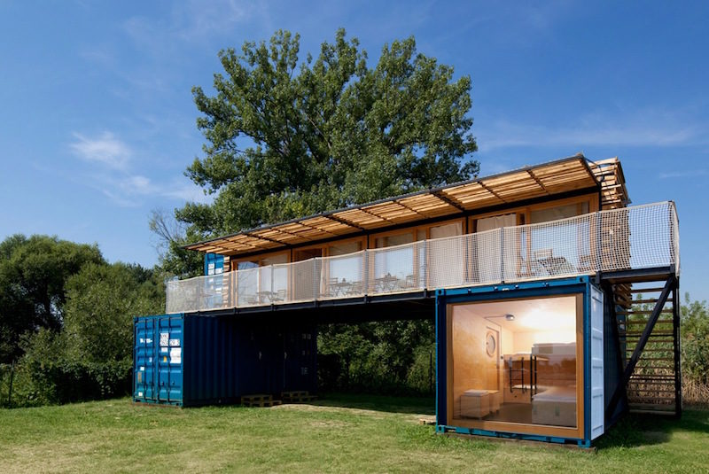 Mobile Hotel Made Out Of Three Used Shipping Containers