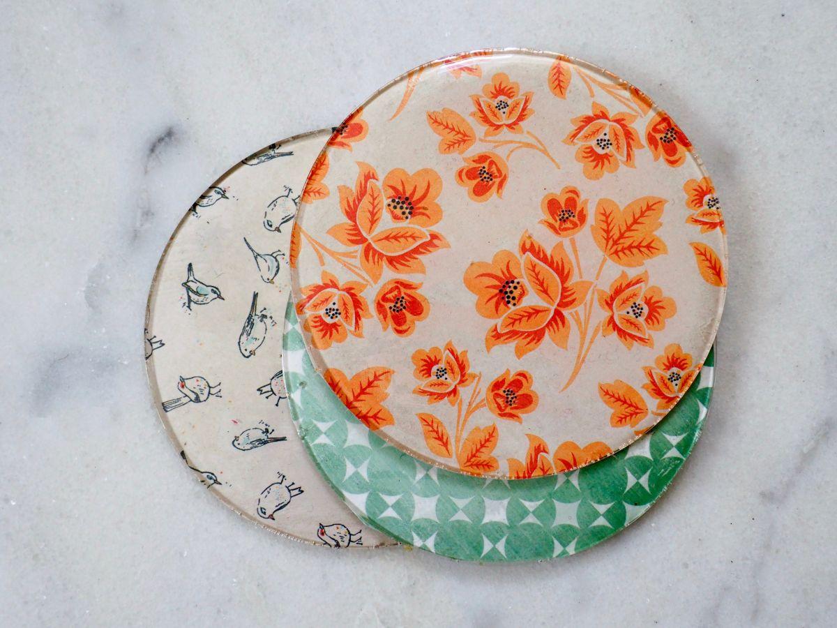 Simple DIY Patterned Coasters Using Resin