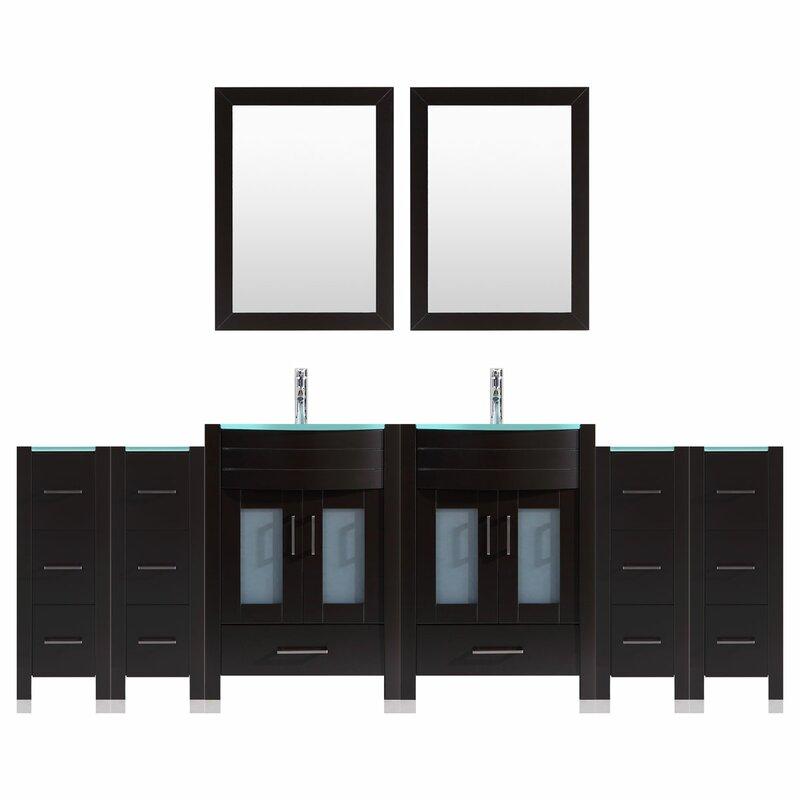 Vanity set with extra storage