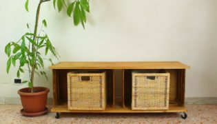Transform Wooden Crates Into A Storage Bench