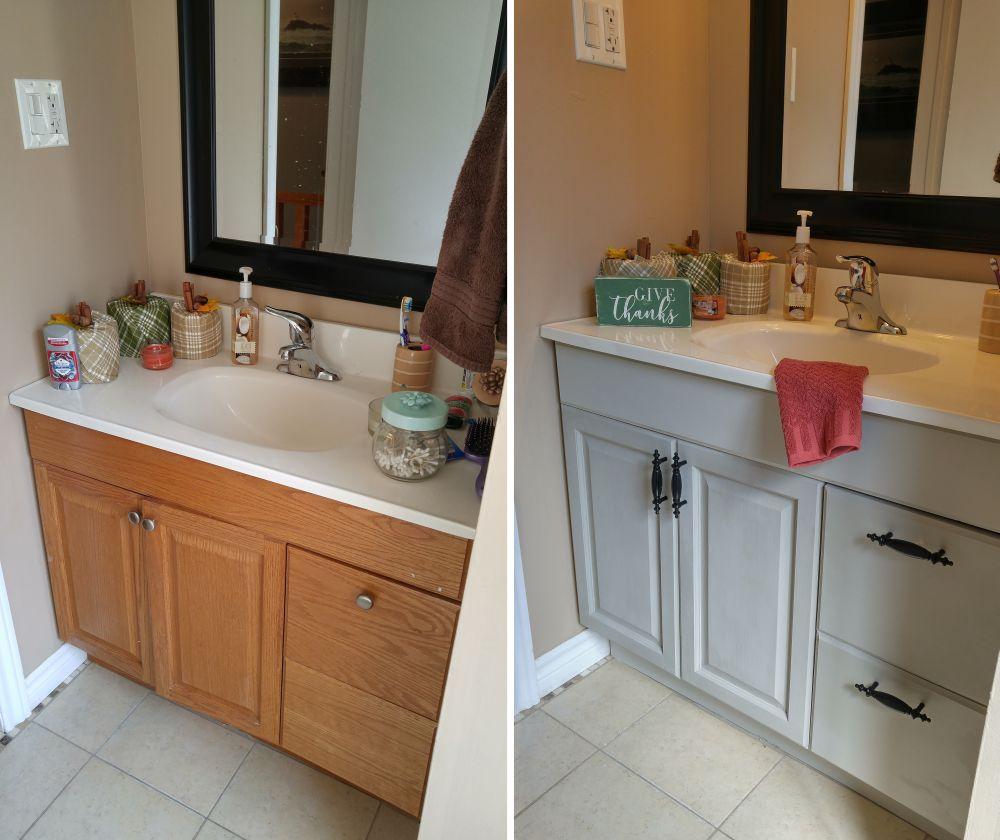 repurposed bathroom vanity