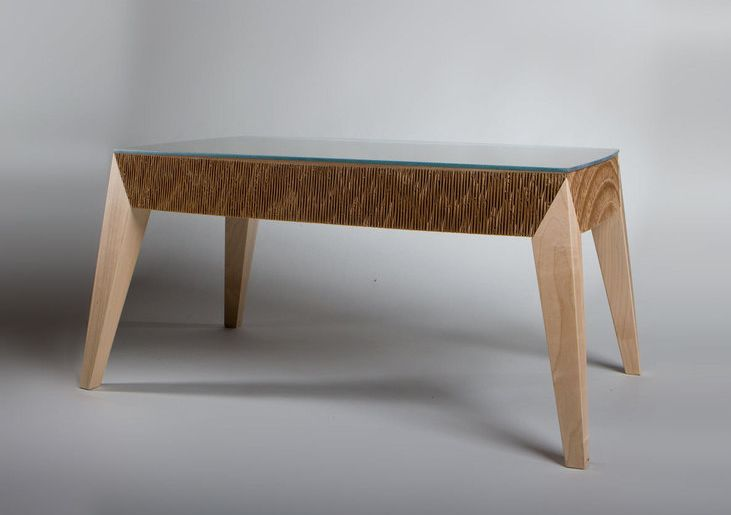 View In Gallery Would You Furnish Your Living Room With A Cardboard Coffee Table