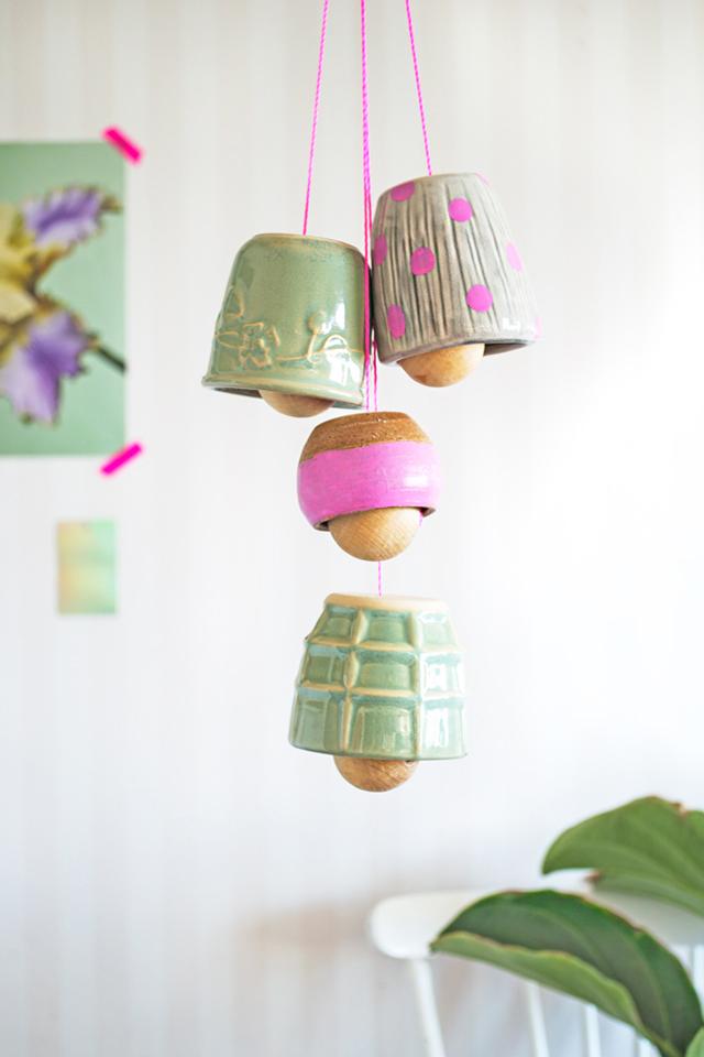 Ceramic hangign bells