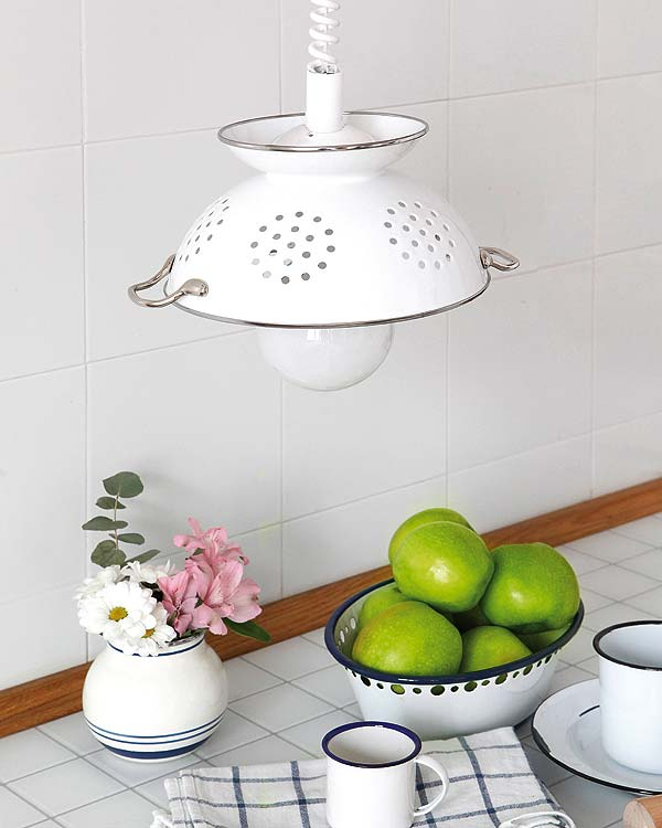 Colander pendant wall lights