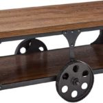 Coffee Table with Casters Rustic Brown