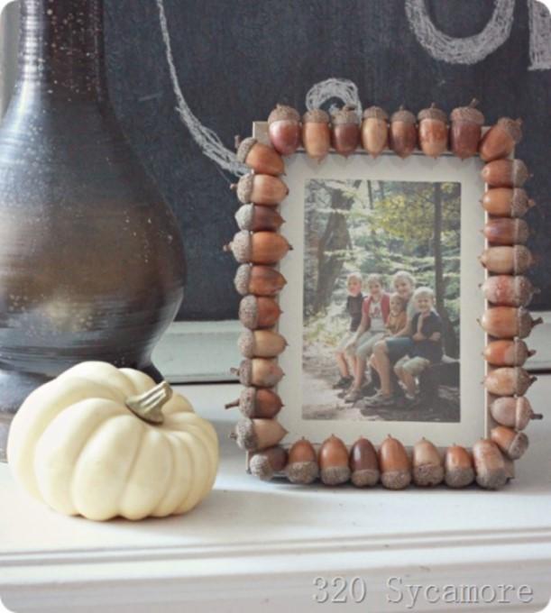 DIY picture frame Cool Autumn Acorn Frame