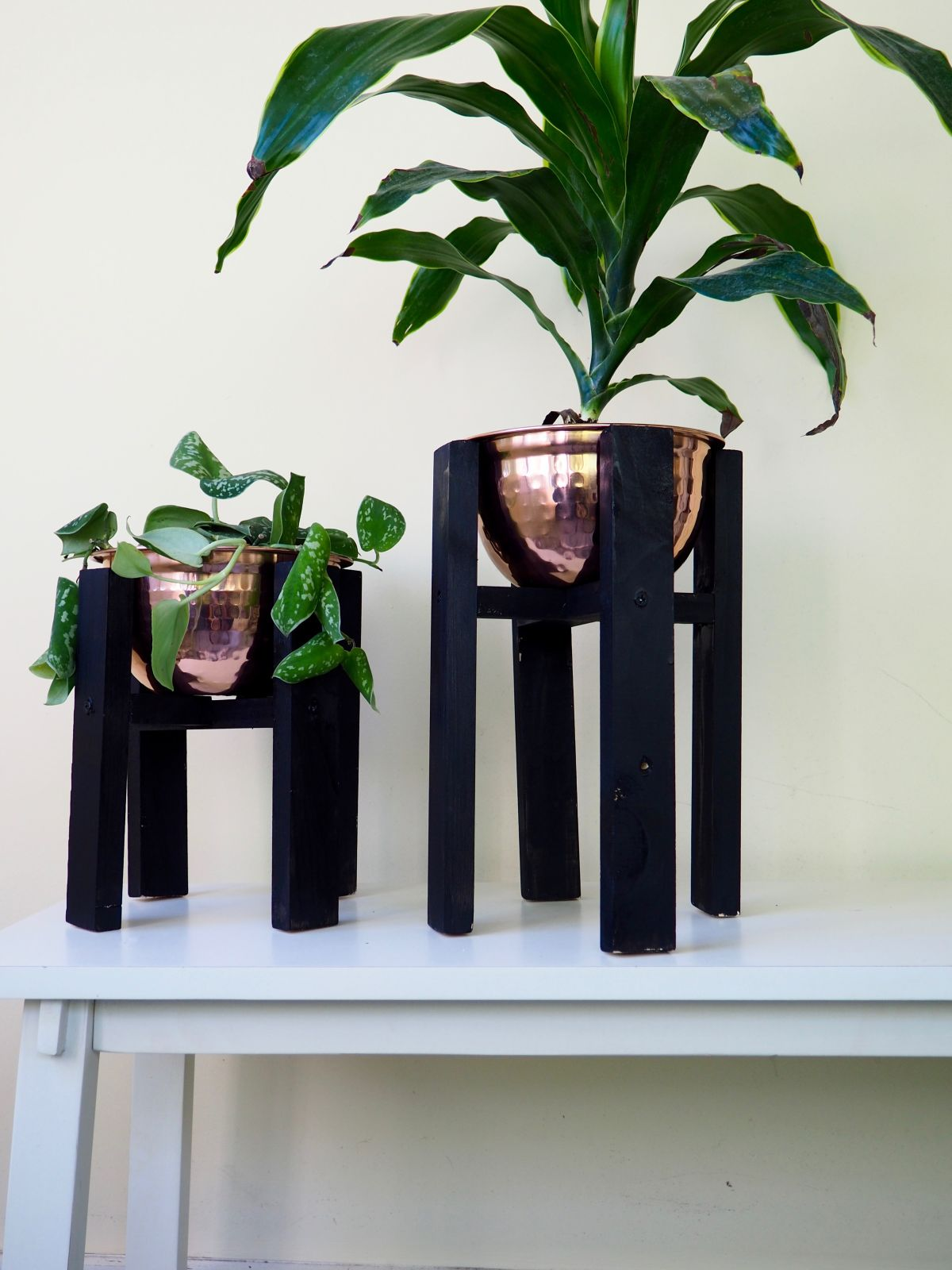 Copper Wood Planter: Mid Century Inspired DIY | Healthy Home Cleaners