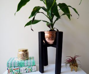 Copper Wood Planter: Mid Century Inspired DIY