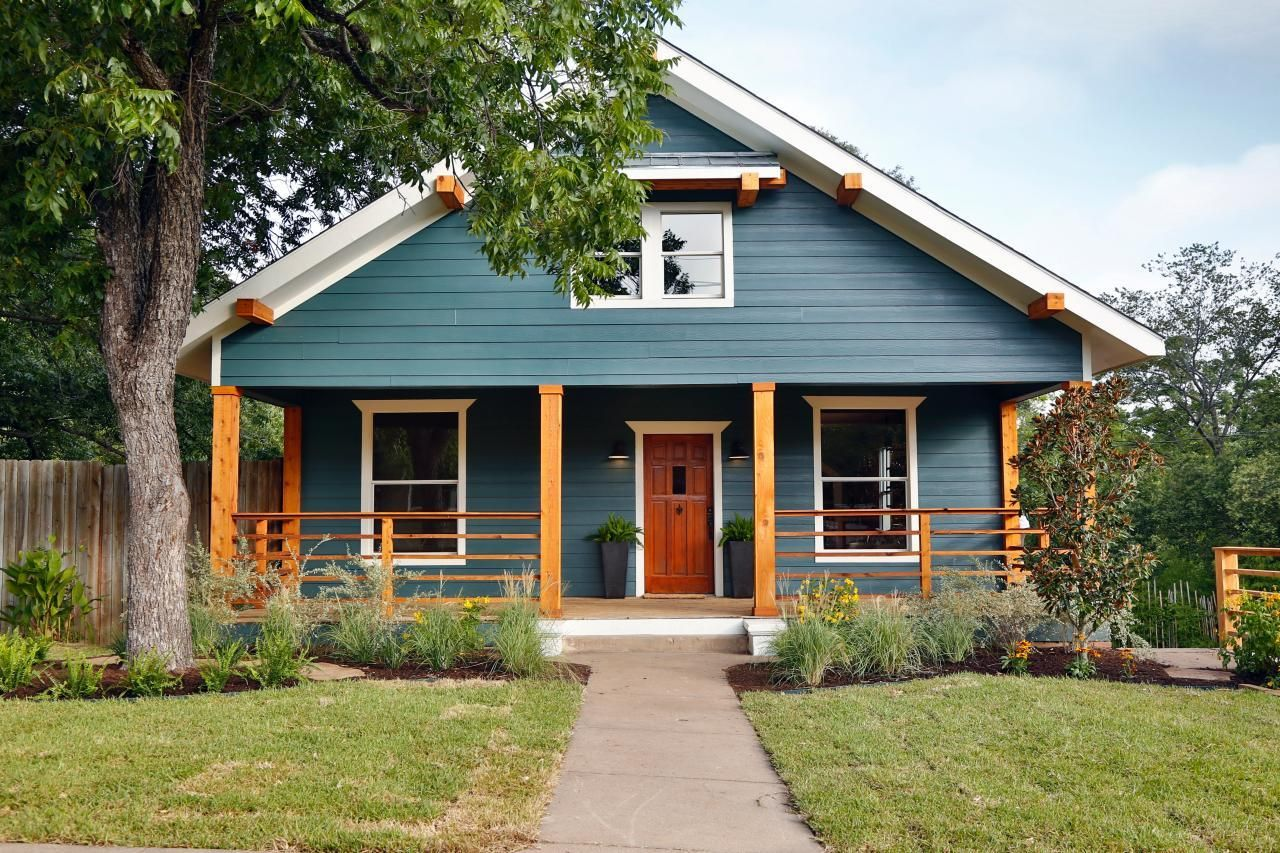 craftsman - Exterior House Colors Blue