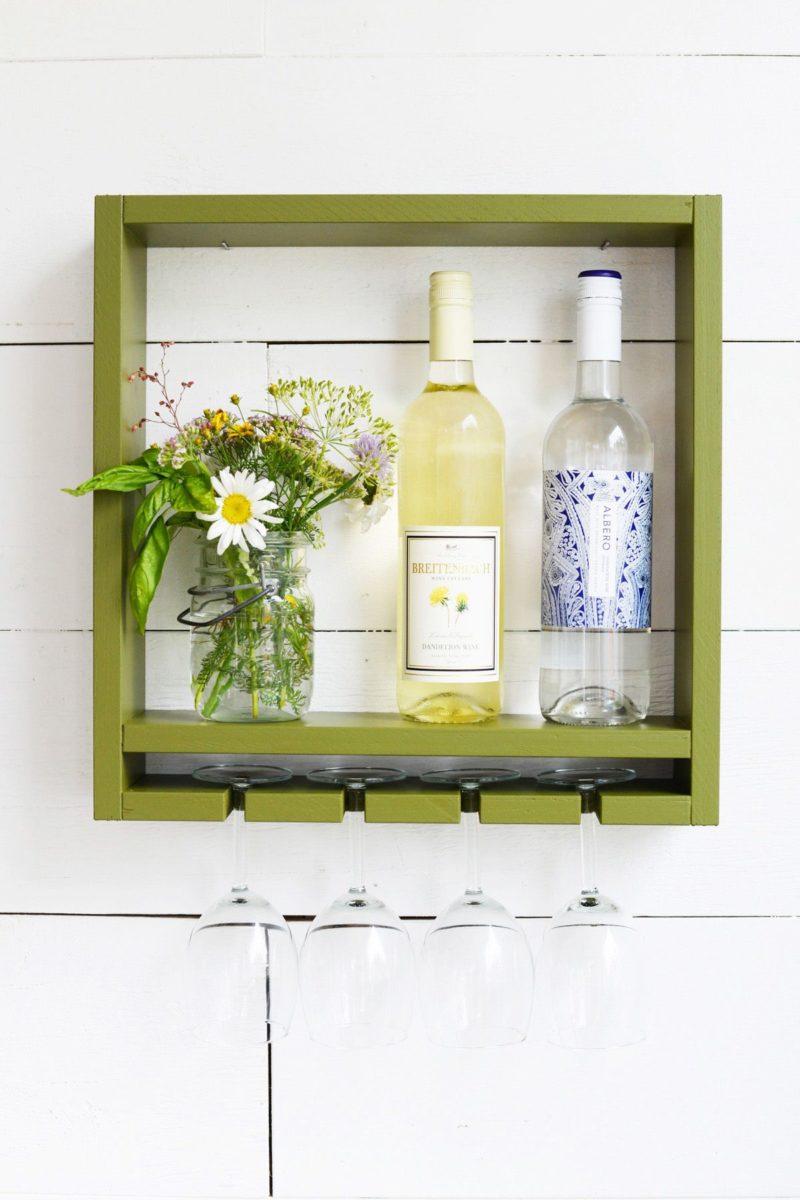 DIY Hanging Wine Rack
