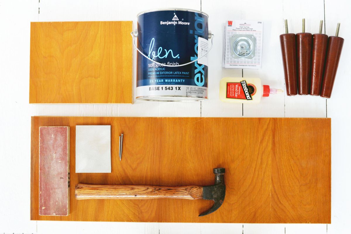 DIY Mid Century Modern Inspired Entry Shelf