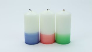 Jazz Up Some Plain White Candles Using Crayons