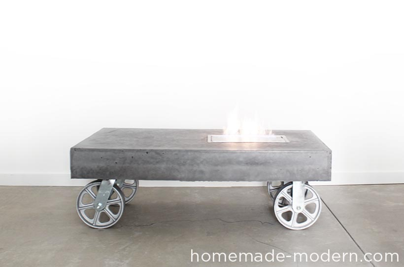 10 Coffee Tables on Wheels to DIY