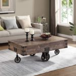 Factory Cart Coffee Accent Table
