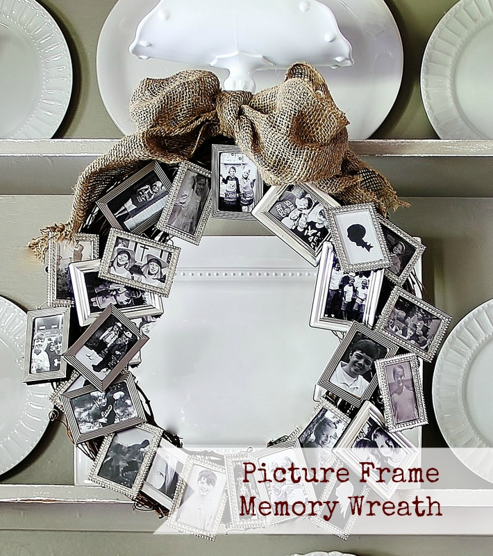 DIY picture frame Festive Photo Frame Wreath