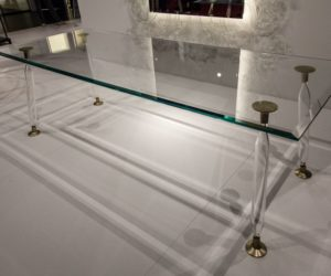 Glass Dining Table 40 glass dining room tables to revamp with: from rectangle to square!