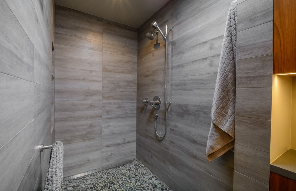flooring stone bathroom c shower tile floor look