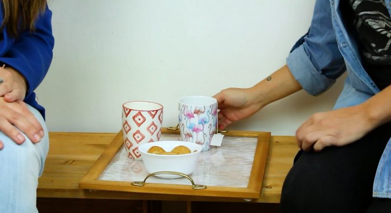 Turn A Leftover Frame Into A Charming Serving Tray