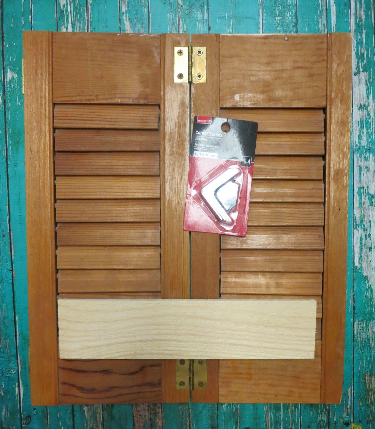 Make A Shelf By Using Repurposed Wood Shutters