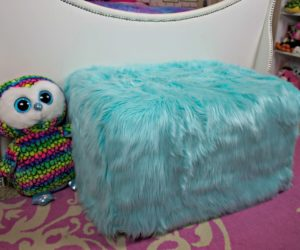How To Reupholster An Ottoman With Faux Fur