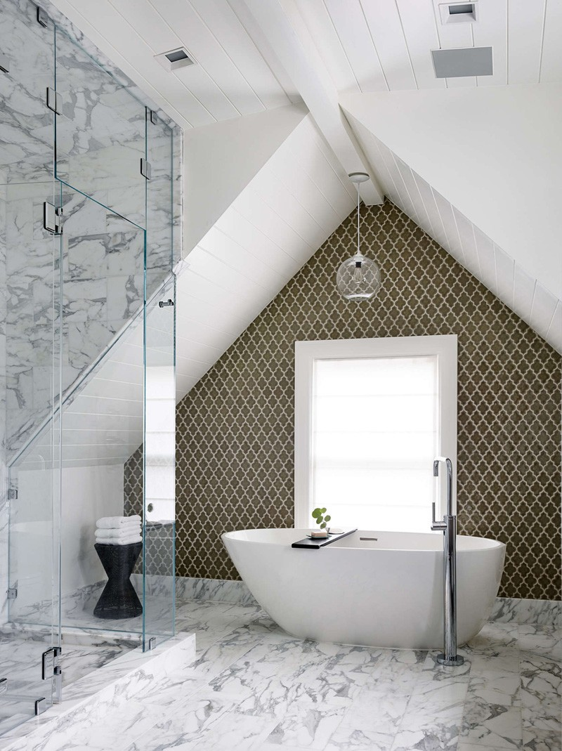 View in gallery A marble shower floor ...