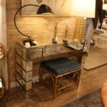 Narrow mirrored console table for hallways