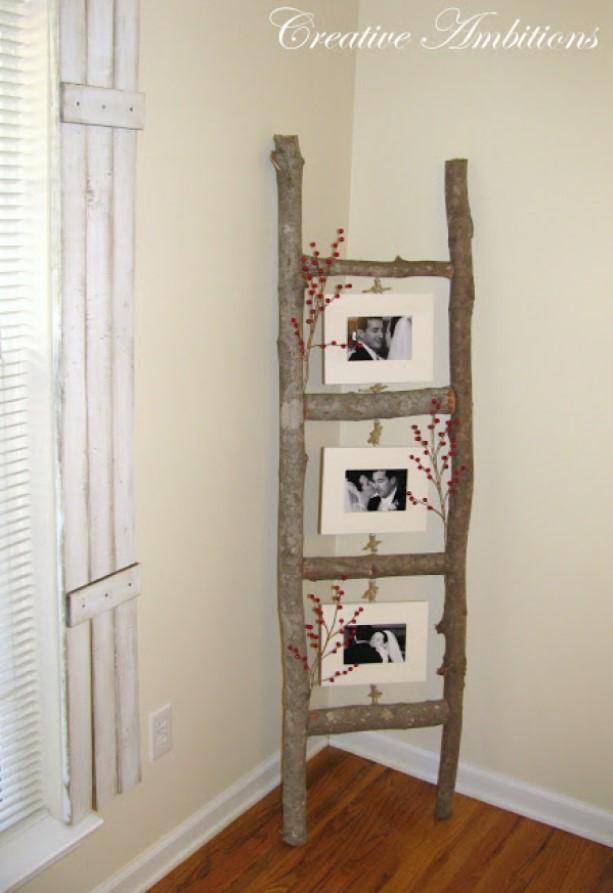 DIY picture frame Nature Ladder Photo Holder