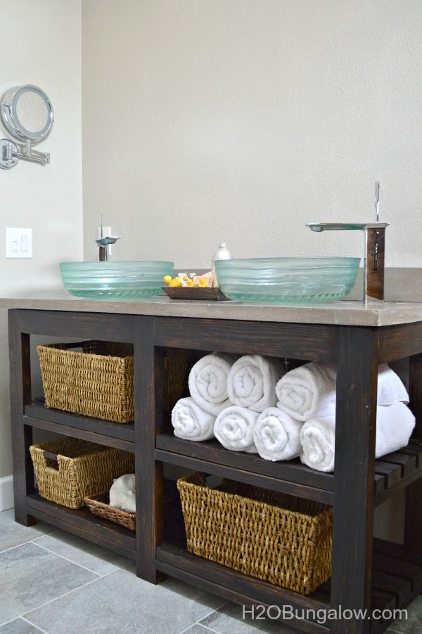 DIY Bathroom Vanity Ideas Perfect For Repurposers - Bathroom vanities with shelves