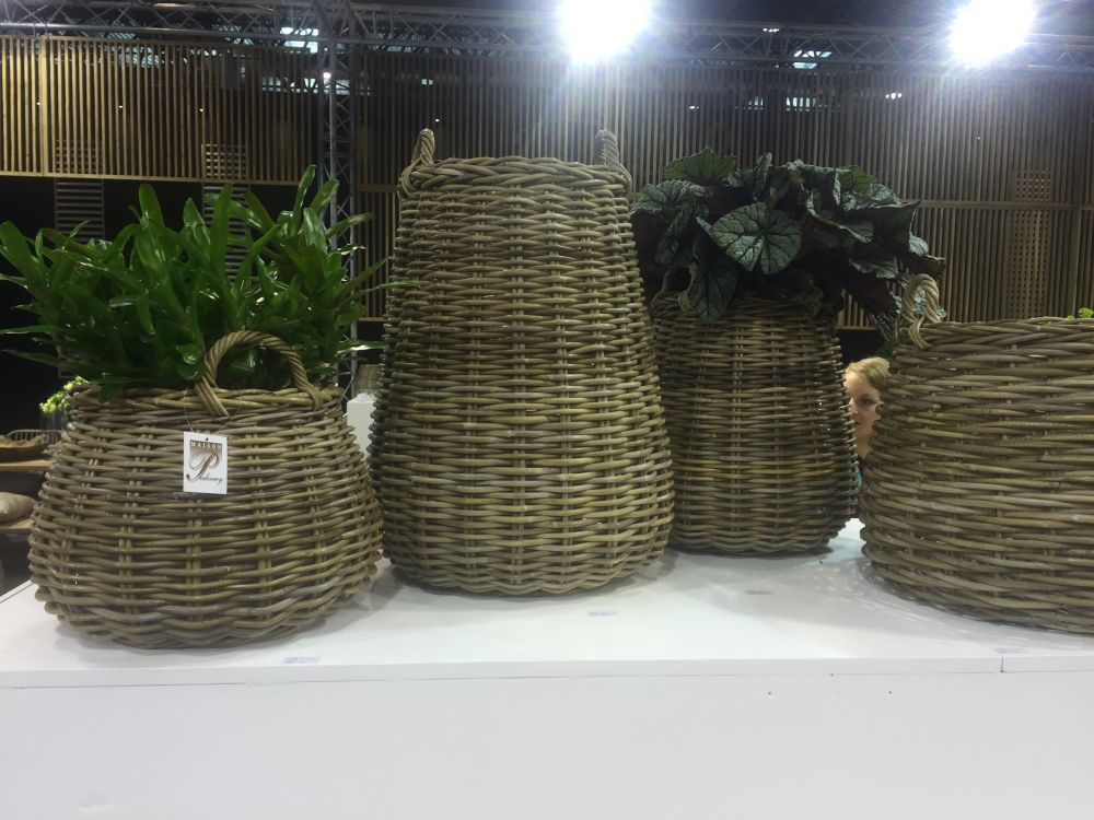 Platers from wicker baskets