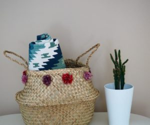 Simple Pom-Pom Basket Do It Yourself