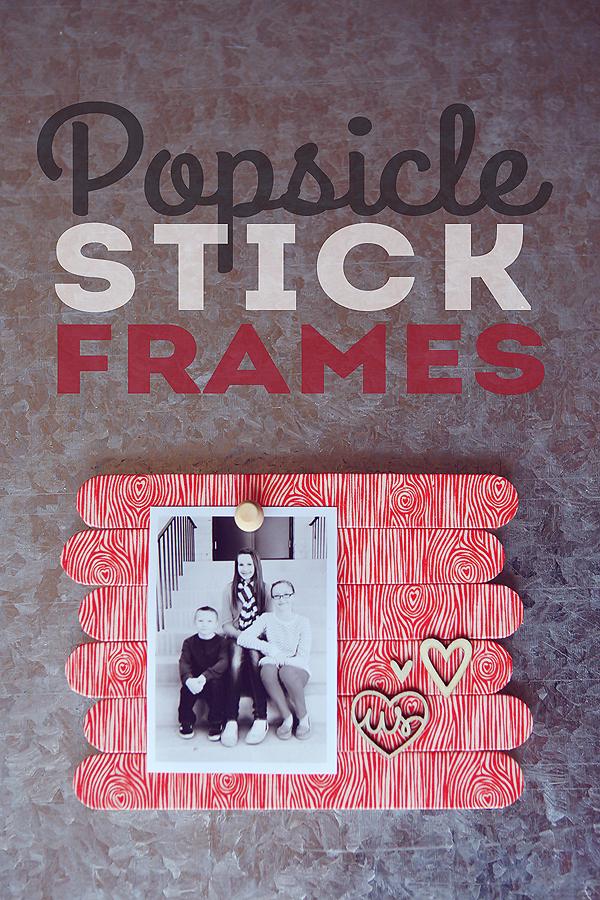 DIY Photo frame Popsicle Stick Frames