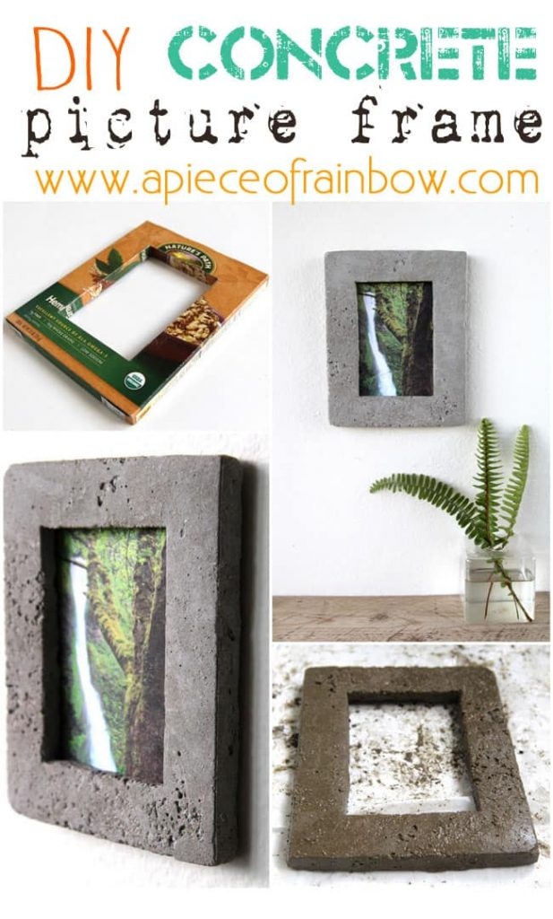 DIY picture frame Pour Your Own Concrete Frame