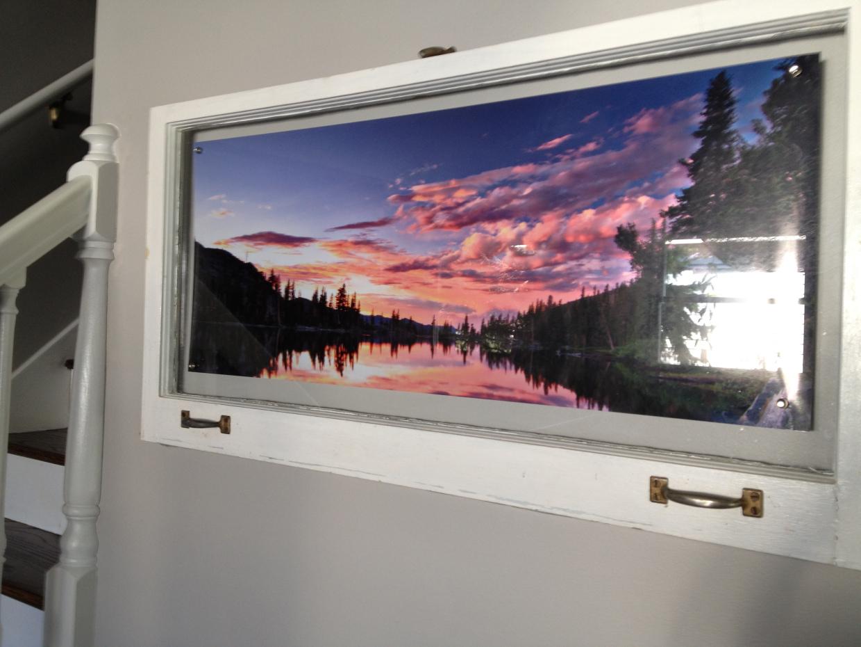 DIY photo frame Repurposed Window Photo Frames