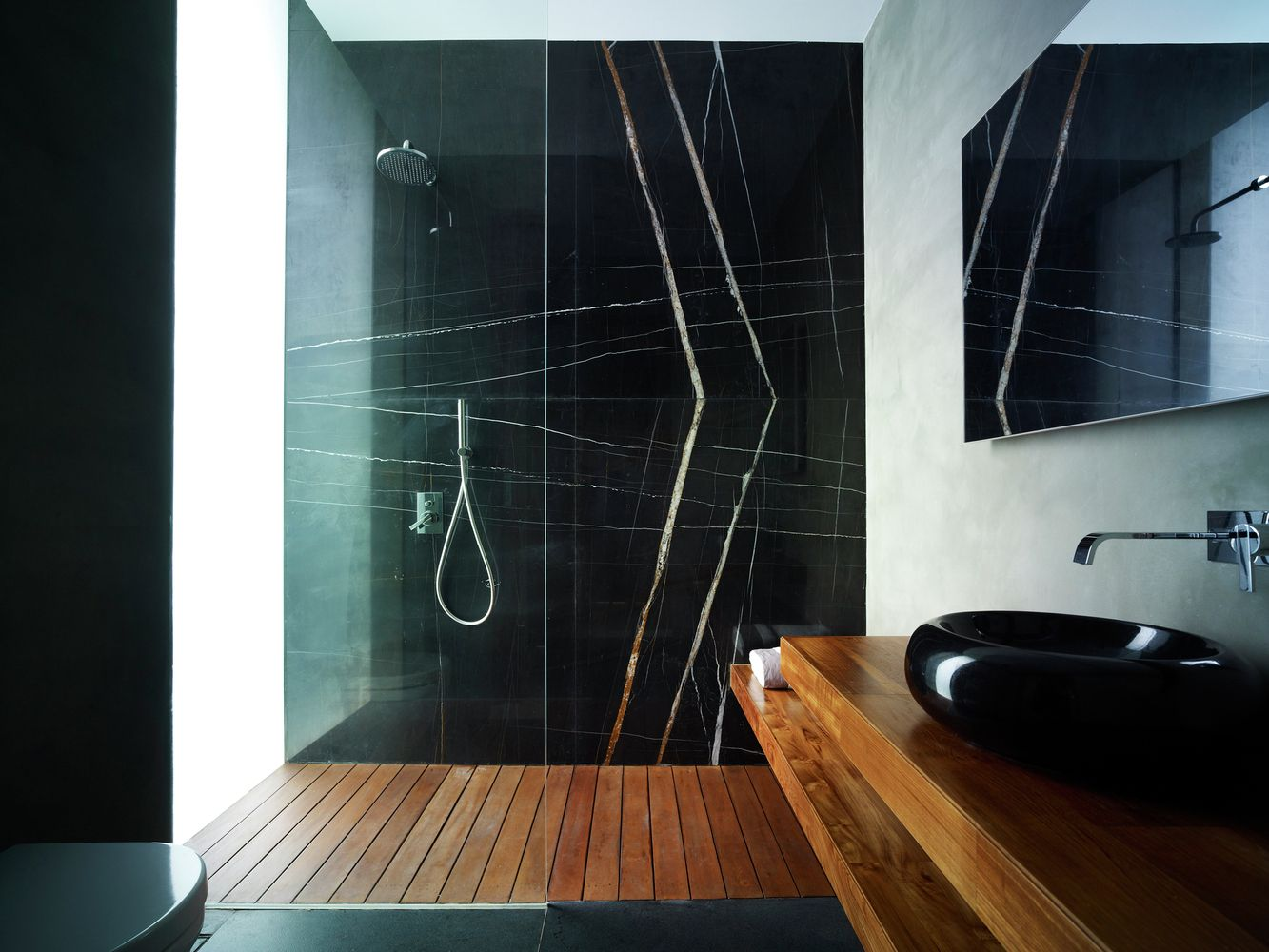 View In Gallery If You Choose Wood For Your Shower Floor ...