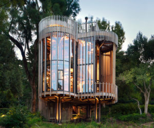 A Modern Treehouse Residence Made Of Four Cylindrical Towers