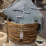 Two tone wicker baskets