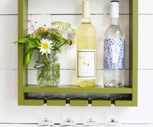 DIY Wall Mounted Hanging Wine Rack