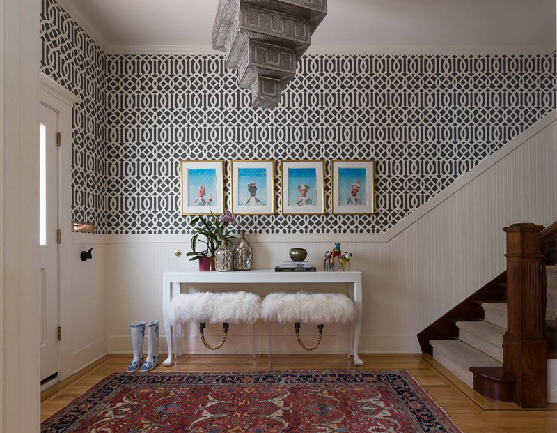 Foyer Wallpaper : Foyer decorating ideas that reflect beauty and sophistication