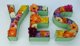 Whip Up Easy Floral Cardboard Letter Décor
