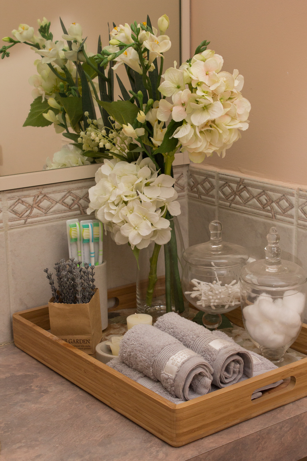 Bathroom Countertop Storage Solutions With Aesthetic Charm on Counter Top Decor  id=98173