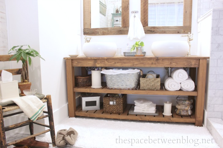 Diy bathroom vanity ideas perfect for repurposers for Diy master bathroom ideas