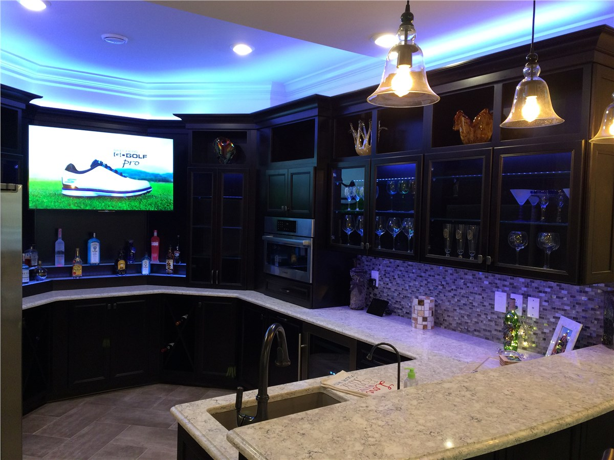Add a TV to your Basement Bar